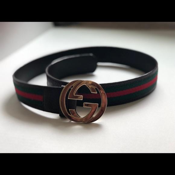 ea2557ac2ec7 Gucci Accessories | Authentic Used Web Belt Winterlocking G | Poshmark
